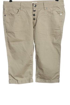 Q/S Pantalon capri crème style décontracté
