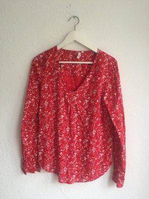 Q/S Bluse Hemd Flower Print Muster business casual - wie neu