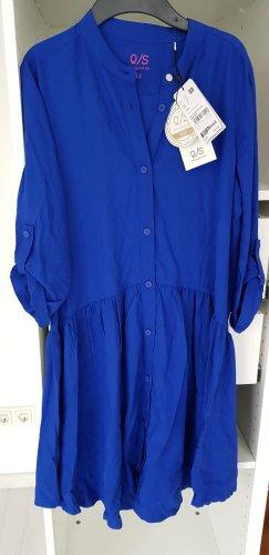 QS by s.Oliver Vestido de tela de sudadera azul