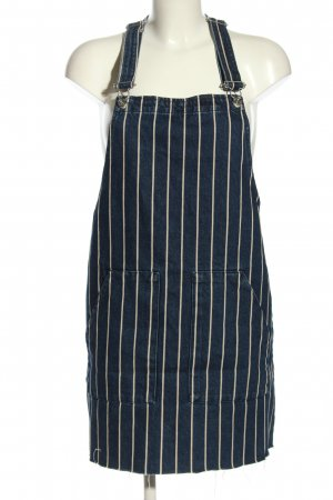 Q&S by S.Oliver Pinafore Overall Skirt blue-white striped pattern casual look