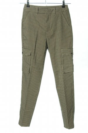 Q/S Pantalon cargo crème-kaki imprimé allover style décontracté