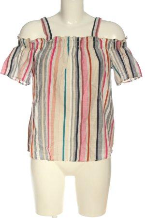 Q/S Camisa tipo Carmen estampado a rayas look casual
