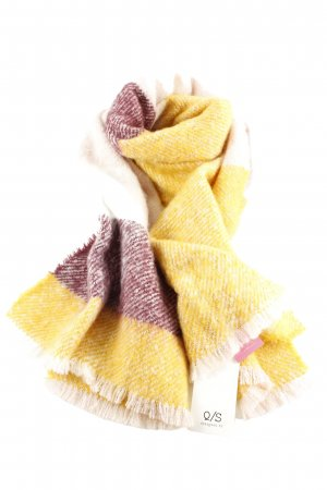 Q/S Fringed Scarf flecked casual look