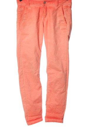 Q/S Pantalon taille basse rose style décontracté
