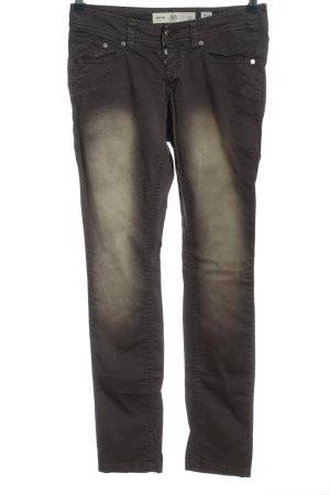 Q/S pantalón de cintura baja negro look casual