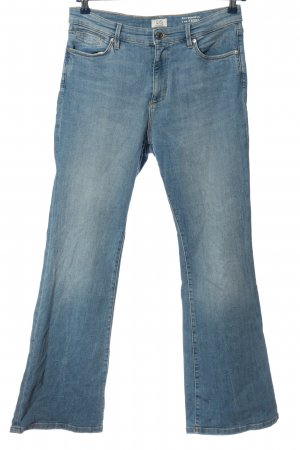 Q/S Jeansschlaghose blau Casual-Look