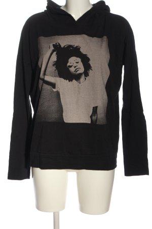 Q/S Sweatshirt met capuchon zwart-lichtgrijs casual uitstraling
