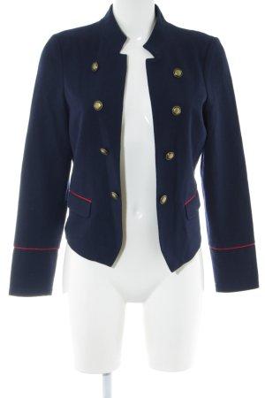 Q/S Kurz-Blazer blau-rot klassischer Stil