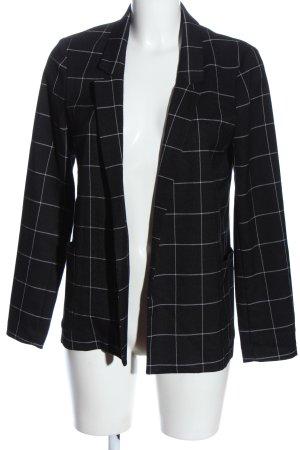 Q/S Blazer corto nero-bianco motivo a quadri stile professionale