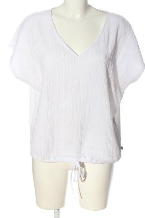 Q/S Blusa de manga corta blanco look casual
