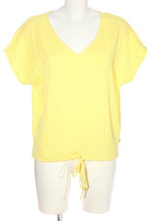 Q/S Kurzarm-Bluse blassgelb Casual-Look