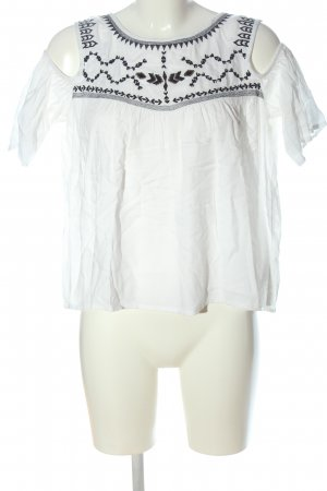 Q/S Blusa de manga corta blanco elegante