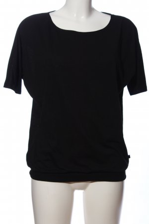 Q/S Kurzarm-Bluse schwarz Casual-Look