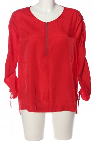 Q/S Langarm-Bluse rot Business-Look