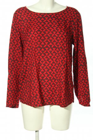 Q/S Langarm-Bluse rot-braun Allover-Druck Casual-Look