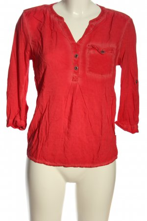 Q/S Langarm-Bluse rot Casual-Look