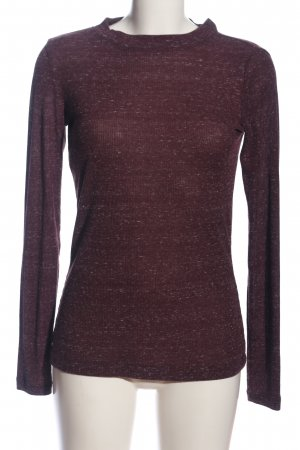 Q/S Langarm-Bluse lila meliert Casual-Look