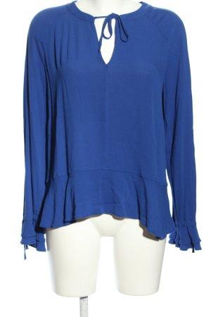 Q/S Langarm-Bluse blau Casual-Look