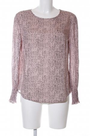 Q/S Langarm-Bluse pink-schwarz abstraktes Muster Casual-Look