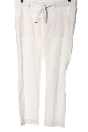 Q/S Pantalon en lin blanc cassé style décontracté