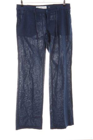 Q/S Leinenhose blau Casual-Look