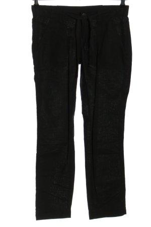 Q/S Pantalon en lin noir style décontracté