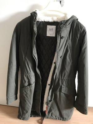 Q/S Manteau à capuche kaki