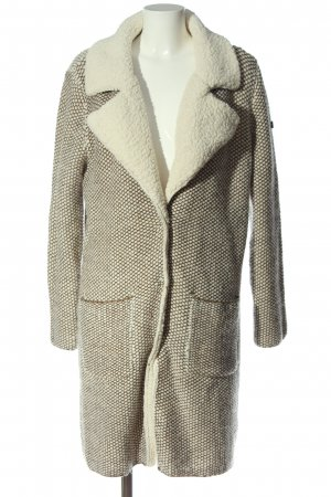 Q/S Oversized Coat cream-brown allover print casual look