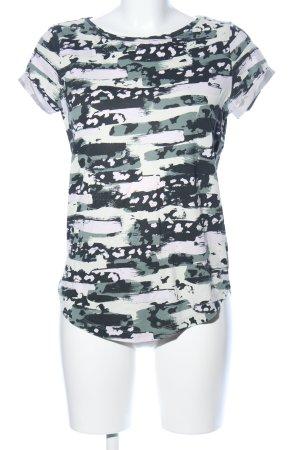 Q/S Print-Shirt abstraktes Muster Casual-Look