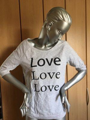 Q.S. Print Shirt Gr. S hellgrau