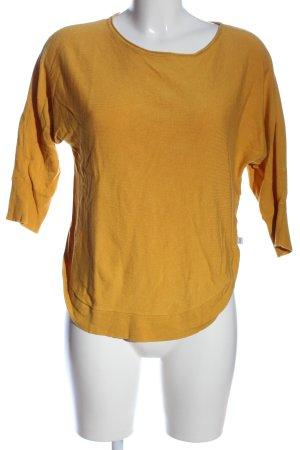 Q/S Pull ras du cou orange clair style décontracté