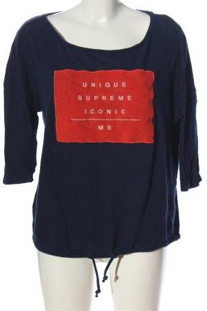 Q/S Schlupf-Bluse Schriftzug gedruckt Casual-Look