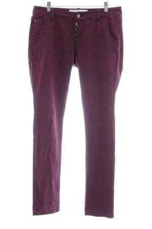 """Q/S Jeans slim """"Catie"""" rouge mûre"""