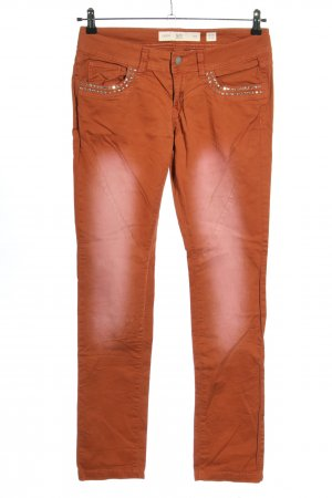 Q/S Jeans slim orange clair style décontracté