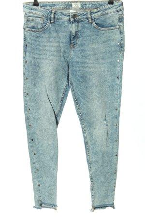 Q/S Jeans slim bleu motif abstrait style décontracté