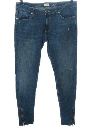 Q/S Straight-Leg Jeans blau Casual-Look