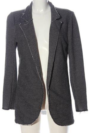 Q/S Blazer lungo grigio chiaro puntinato stile casual