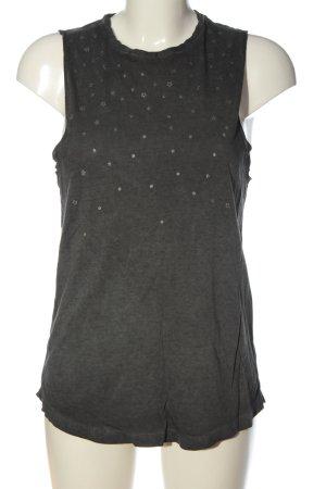 Q/S Top lavorato a maglia nero-argento stampa integrale stile casual