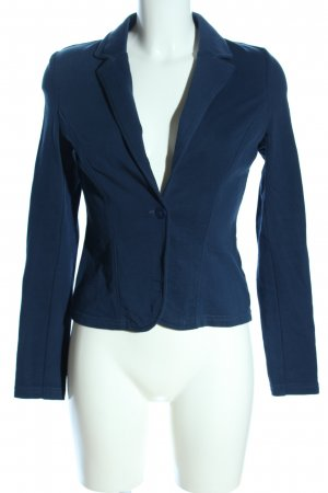 Q/S Sweatblazer blau Business-Look