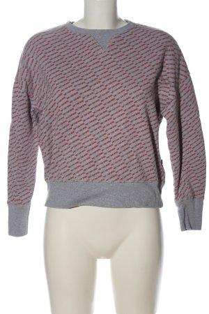 Q/S Sweatshirt rot-hellgrau meliert Casual-Look