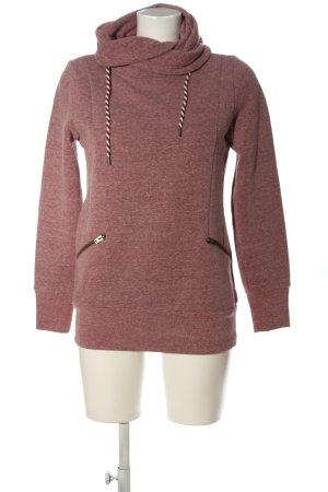 Q/S Sweatshirt rot meliert Casual-Look