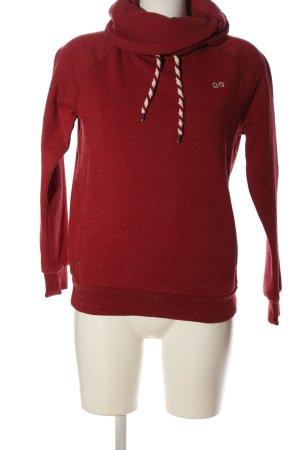 Q/S Sweatshirt rot-weiß Allover-Druck Casual-Look