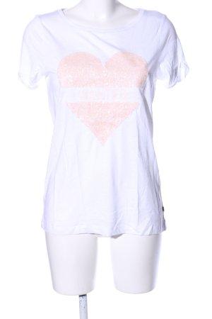 Q/S T-Shirt weiß Glanz-Optik