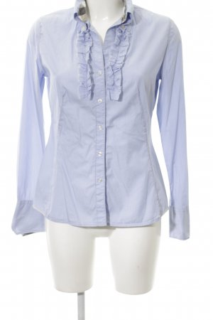 Q1 Langarm-Bluse blau Business-Look