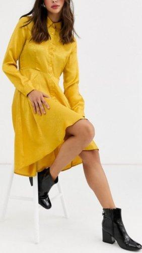 QED London Abendkleid gelb 38 (10) neu