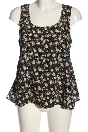 QED London ärmellose Bluse schwarz-creme Allover-Druck Casual-Look
