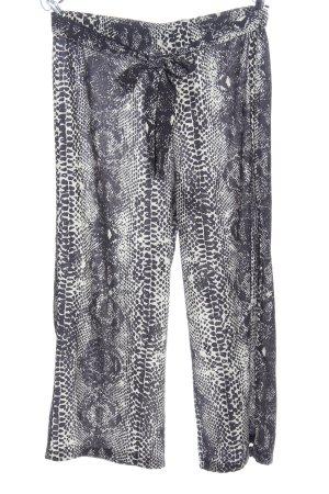 QED London Pantalón abombado gris claro-blanco estampado de animales