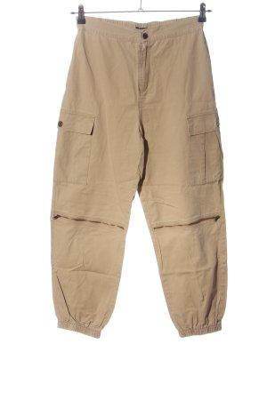 QED London Cargo Pants cream casual look