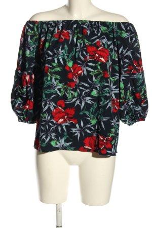 QED London Carmen-Bluse Blumenmuster Casual-Look