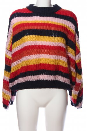 QED London Crochet Sweater striped pattern casual look